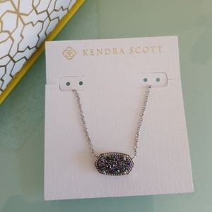 Kendra Scott Multi Drusy Silver Elisa necklace